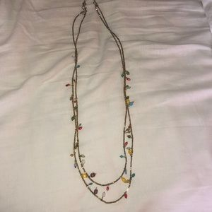 Two Strand with Decorative Beads Necklace